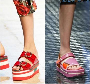 Модні взуттєві тенденції весна-літо 2018. Тренд 1. Плоскі підошви і  платформи для жіночого взуття. Dolce   Gabbana 6f09021df0901