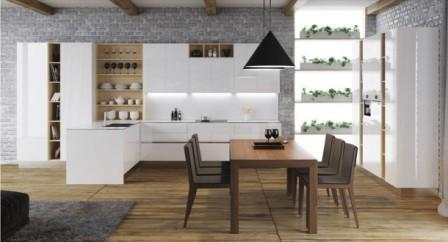 Сучасний дизайн великої кухні 12 м. кв м