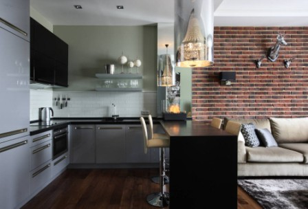 Сучасний дизайн маленької кухні 6 кв м