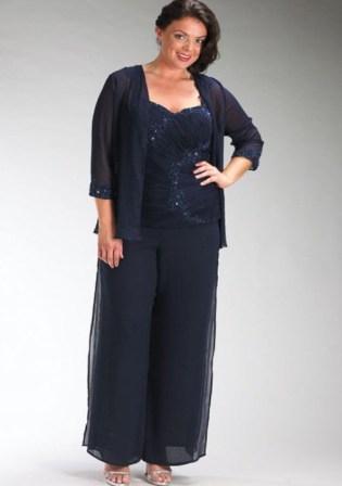 Брючні костюми великих розмірів для повних жінок  4ed78ec15850e