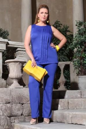 27432a9461b449 Брючні костюми великих розмірів для повних жінок | Жіночий портал ...