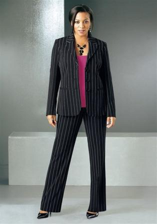 Брючні костюми великих розмірів для повних жінок  b744add1e9aaf