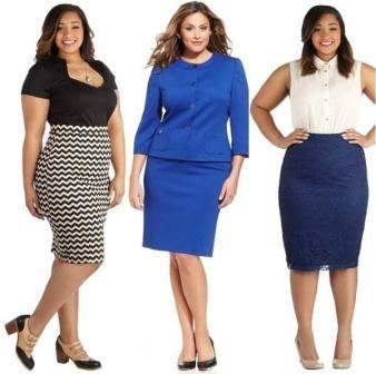 Діловий стиль одягу для повних жінок 214879d8bf0d5
